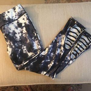 Mono B Tie Dye Leggings with Calf Cutouts